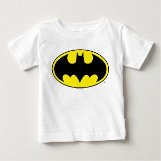 バットマンの記号|のこうもりの楕円形のロゴ ベビーTシャツ