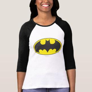 バットマンの記号|のこうもりの楕円形のロゴ Tシャツ
