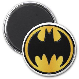 バットマンの記号|のクラシックな円形のロゴ 冷蔵庫マグネット