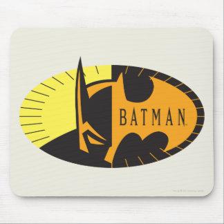 バットマンの記号|のシルエットのロゴ マウスパッド