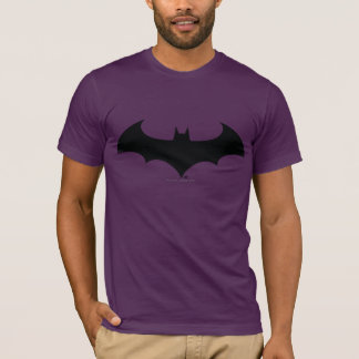 バットマンの記号|のシンプルなこうもりのシルエットのロゴ Tシャツ