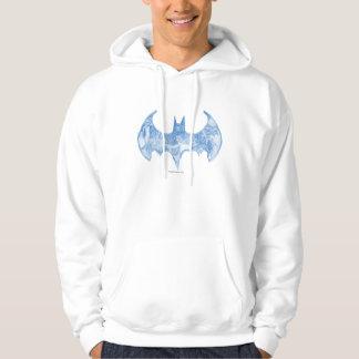 バットマンの記号|のスケッチブックの淡いブルーのロゴ パーカ