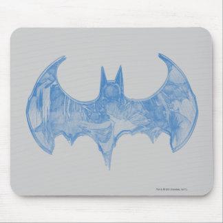 バットマンの記号|のスケッチブックの淡いブルーのロゴ マウスパッド