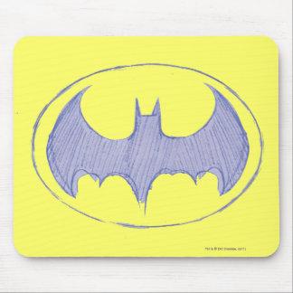 バットマンの記号|のスケッチブックの紫色のロゴ マウスパッド