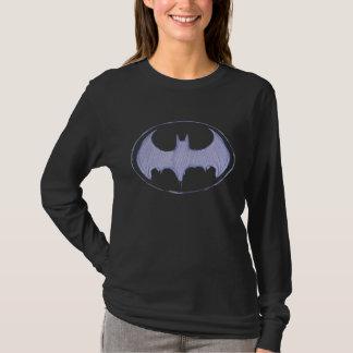 バットマンの記号|のスケッチブックの紫色のロゴ Tシャツ