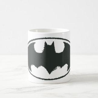 バットマンの記号|のスプレーの白黒のロゴ コーヒーマグカップ