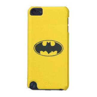バットマンの記号|のスプレーの白黒のロゴ iPod TOUCH 5G ケース
