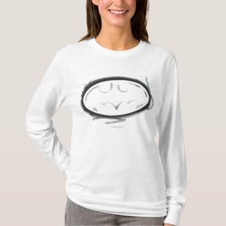 バットマンの記号|のスプレーはロゴ衰退しました Tシャツ