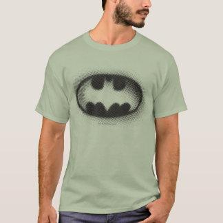 バットマンの記号|のハーフトーンのロゴ Tシャツ