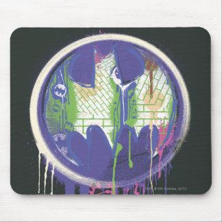 バットマンの記号|の円の紫色のロゴ マウスパッド