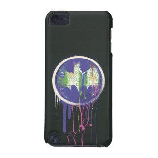 バットマンの記号|の円の紫色のロゴ iPod TOUCH 5G ケース