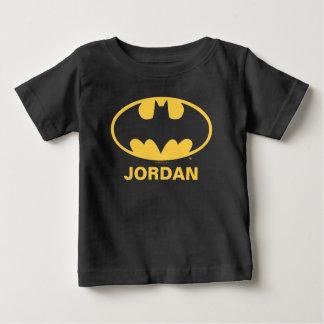 バットマンの記号|の楕円形のロゴ ベビーTシャツ