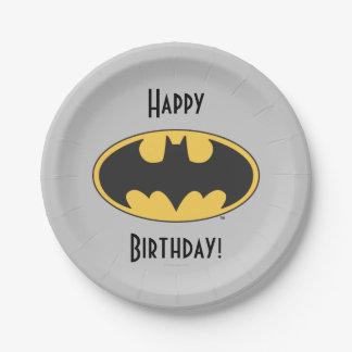 バットマンの記号|の楕円形のロゴ ペーパープレート