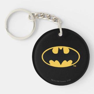 バットマンの記号|の楕円形のロゴ 丸型(両面)アクリル製キーホルダー