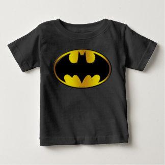 バットマンの記号|の楕円形の勾配のロゴ ベビーTシャツ