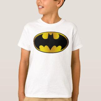 バットマンの記号|の楕円形の勾配のロゴ Tシャツ