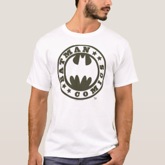 バットマンの記号|の漫画のロゴ Tシャツ