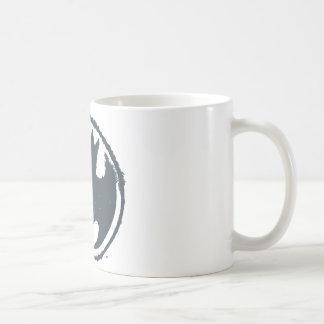 バットマンの記号|の灰色のグランジなロゴ コーヒーマグカップ