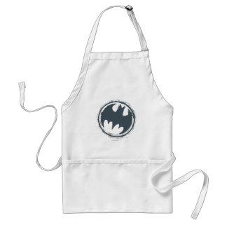 バットマンの記号|の灰色のグランジなロゴ スタンダードエプロン