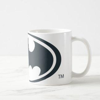 バットマンの記号|の白黒ロゴ コーヒーマグカップ