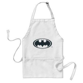 バットマンの記号|の白黒ロゴ スタンダードエプロン