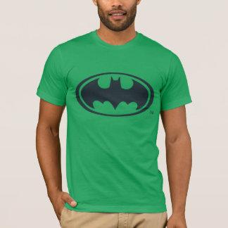 バットマンの記号|の白黒ロゴ Tシャツ