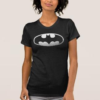 バットマンの記号|の粒状のロゴ Tシャツ