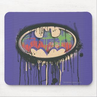 バットマンの記号|の緑の紫色の赤いロゴ マウスパッド