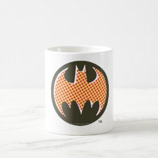バットマンの記号|の赤いハーフトーンのロゴ コーヒーマグカップ