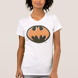 バットマンの記号|の赤いハーフトーンのロゴ Tシャツ