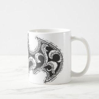 バットマンの記号|の都市伝説の白い波のロゴ コーヒーマグカップ
