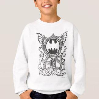 バットマンの記号|の都市伝説の白黒のロゴ スウェットシャツ