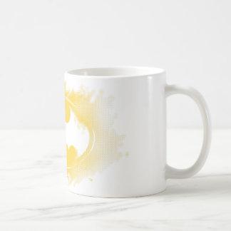 バットマンの記号|の黒くおよび黄色のロゴ コーヒーマグカップ