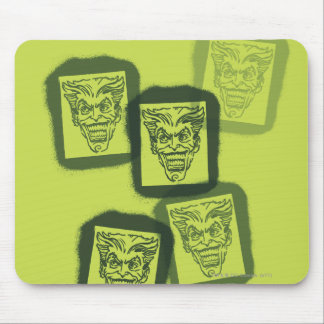 バットマンの通りの英雄- 6 -ジョーカーの緑のスタンプ マウスパッド