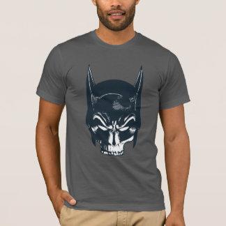 バットマンの頭巾またはスカルアイコン Tシャツ