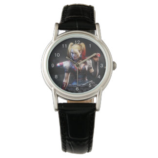 バットマンのArkhamの騎士こうもりとの|ハーレークウィン 腕時計