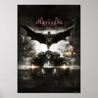 バットマンのArkhamの騎士鍵の芸術 ポスター