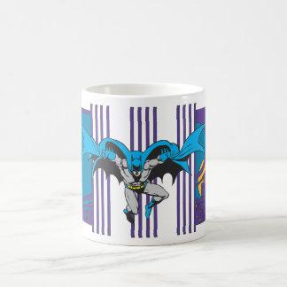 バットマンは縞で飾ります コーヒーマグカップ
