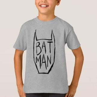 バットマンは頭部をタイプインします Tシャツ