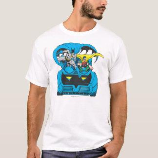 バットマン及びロビンの乗車Batmobile Tシャツ
