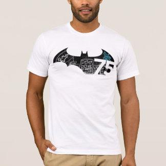 バットマン75のロゴ-黒板 Tシャツ
