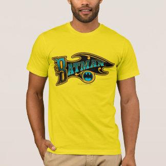 バットマン|のヴィンテージのターコイズのロゴ Tシャツ