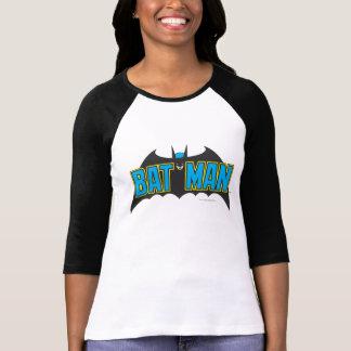 バットマン|のヴィンテージの暗藍色のロゴ Tシャツ