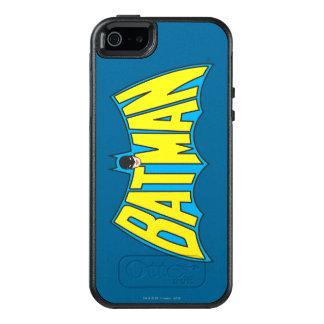 バットマン|のヴィンテージの黄色の青いロゴ2 オッターボックスiPhone SE/5/5s ケース