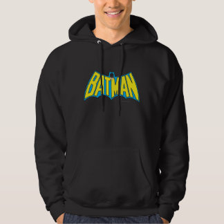 バットマン|のヴィンテージの黄色の青のロゴ パーカ