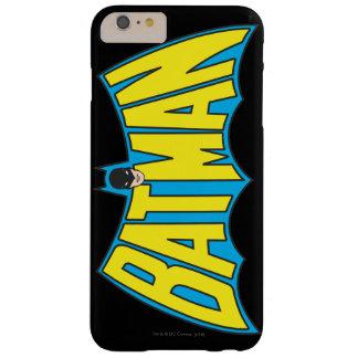 バットマン のヴィンテージの黄色の青のロゴ BARELY THERE iPhone 6 PLUS ケース