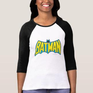バットマン|のヴィンテージの黄色の青のロゴ Tシャツ