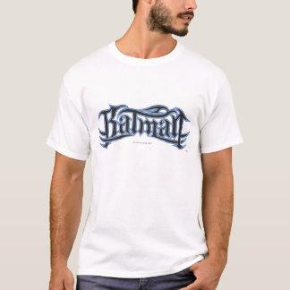 バットマン の暗藍色の手紙のロゴ Tシャツ