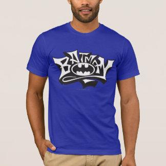 バットマン|の落書きの名前のロゴ Tシャツ