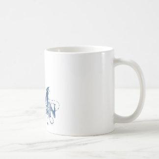 バットマン|の都市曲げられた青い一流のロゴ コーヒーマグカップ